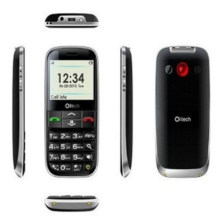 The olitech Easy Mate phone showing front, back and sides